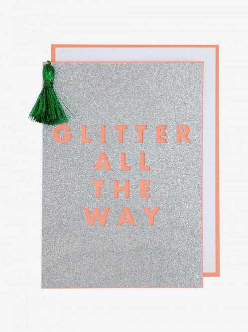 "MERI MERI - Carte ""Glitter all the way"""