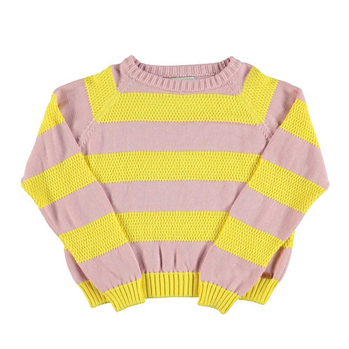 PIUPIUCHICK - Knitted sweater pink&yellow