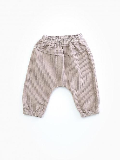 PLAY UP - Pantalon en velours gris clair