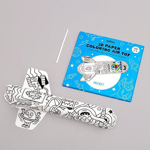OMY - Air toy fusée à colorier