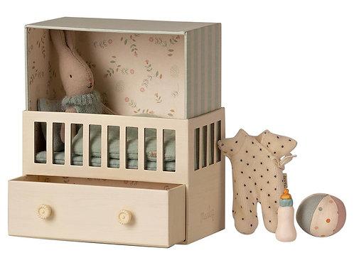 MAILEG - chambre bébé pour micro lapin bleu
