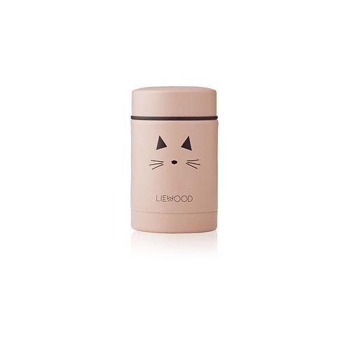 LIEWOOD - Pot en inox Nadja food jar Chat rose