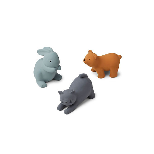 LIEWOOD - Petits jouets animaux en silicone, Bleu Multi Mix