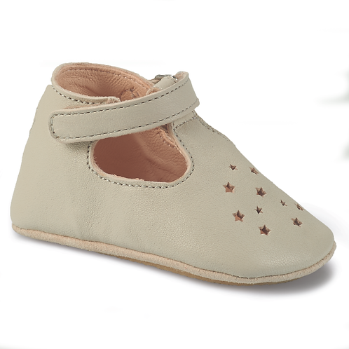 EASY PEASY - Chaussons en cuir Lillop gris
