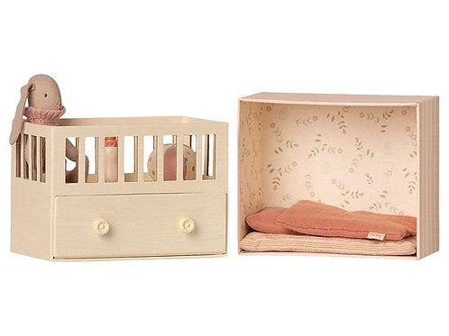 MAILEG - chambre bébé pour micro lapin rose