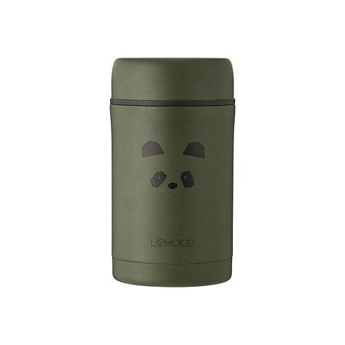 LIEWOOD - Pot en inox Bernard food jar panda hunter green