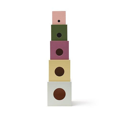 KID'S CONCEPT - Cubes à empiler en bois