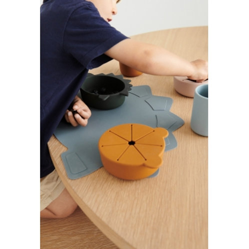 LIEWOOD - Tracy set de table dino bleu  foncé