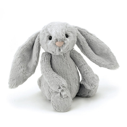 JELLYCAT - Bunny bashful silver, lapin gris medium