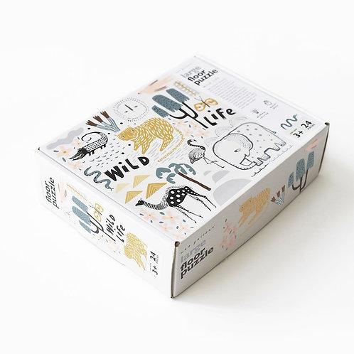 WEE GALLERY - Grand puzzle en carton wildlife