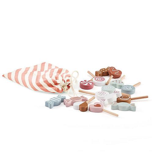 KID'S CONCEPT - Set de bonbons en bois