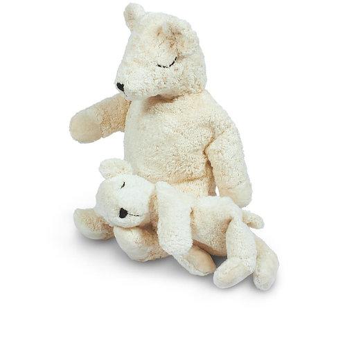 SENGER NATURWELT- Peluche bouillotte petit ours polaire blanc