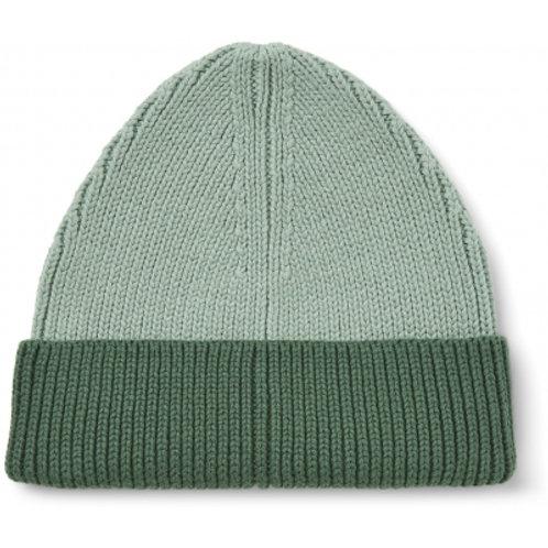 LIEWOOD - Ezra - Bonnet bicolore vert