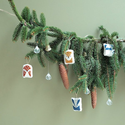 FABELAB - décorations de noël en tissu woodland