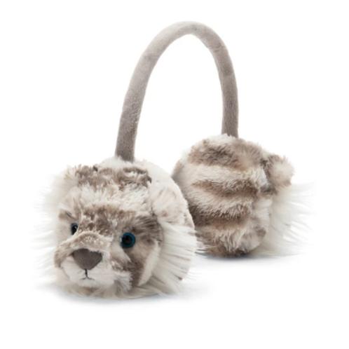 JELLYCAT - Sacha Snow Tiger Ear Muffs