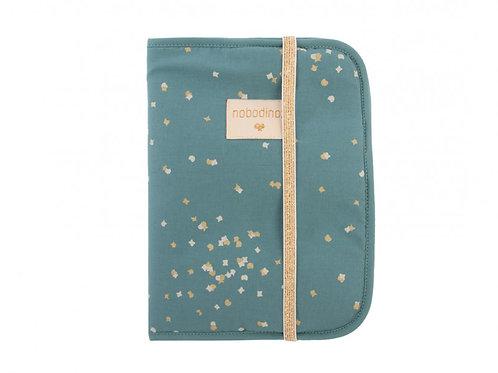 NOBODINOZ - Protège carnet de santé Gold confetti