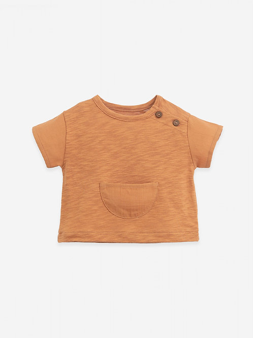 PLAY UP - T-shirt texturé et poche/T-shirt with a front pocket | Botany