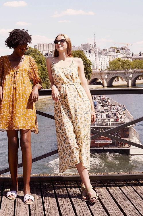 LOUISE MSIHA - Robe bohème Dress Chamane Cream Flowers