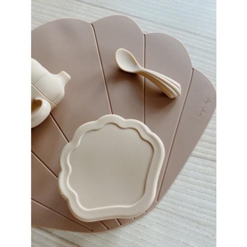 KONGES SLOJD - Set en silicone coquillage couleur crème