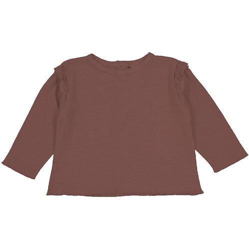 Liste Belin Perrillat - T-shirt Lala brique 6 mois