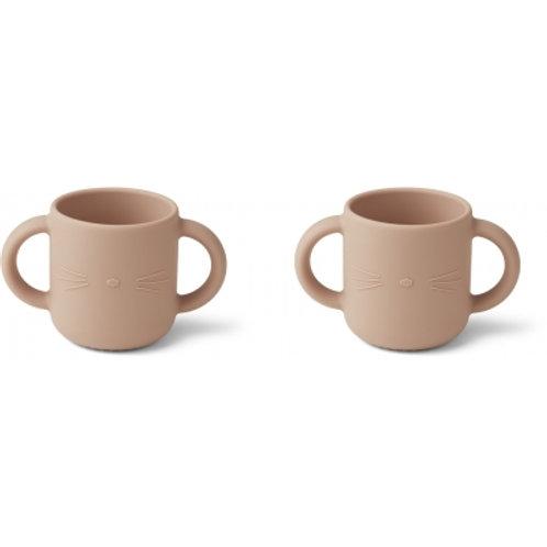 LIEWOOD - Gene - Duo de tasses en silicone rose