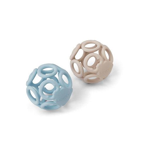 LIEWOOD - Balle silicone Jasmin Theeter sable et bleu