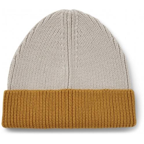 LIEWOOD - Ezra - Bonnet bicolore moutarde