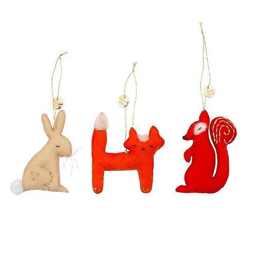 MERI MERI - Décoration pour le sapin - Lapin, renard et écureuil