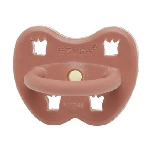 HEVEA - Tétine en caoutchouc - Rouille - bout orthodontique 3-3