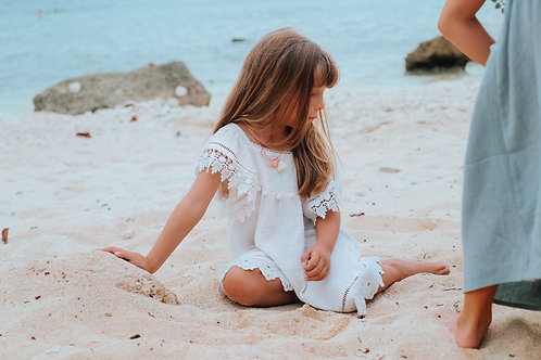 Louise Misha - robe grenadine blanche