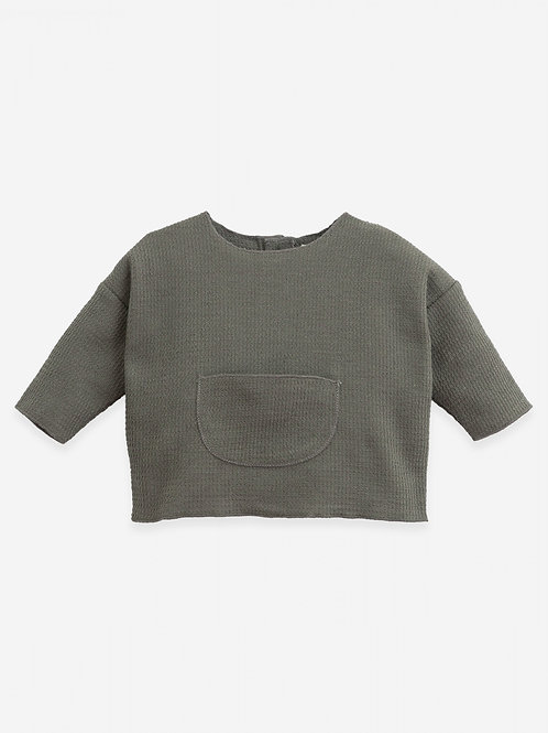 PLAY UP - Blouse texturée grise/Sweater with texture ! Botany