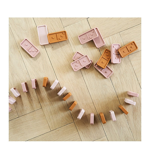 LIEWOOD - Domino en silicone, chiffres tactiles, rose multi mix