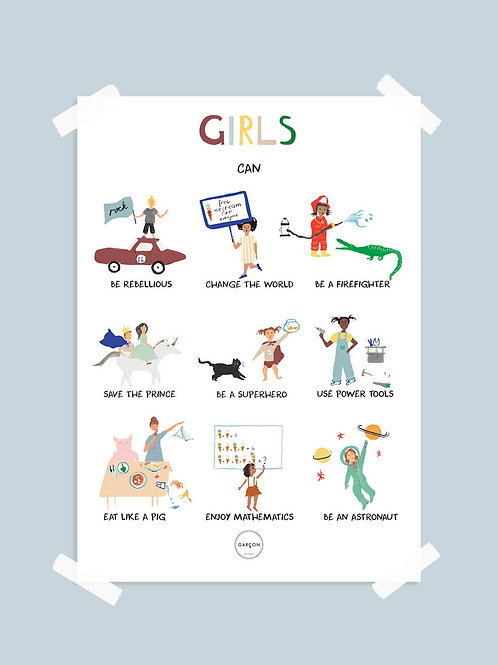 Affiche - Girls can
