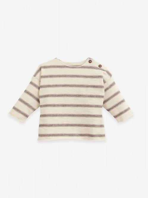 PLAY UP -Blouse lignée/ Striped jersey stitch sweater   Botany