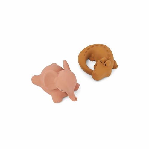 Liste Clinquart Ponchau - Liewood jouets de bain safari rose mix
