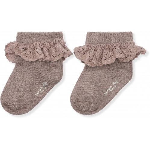 KONGES SLOJD - chaussettes en lurex avec dentelle hazel