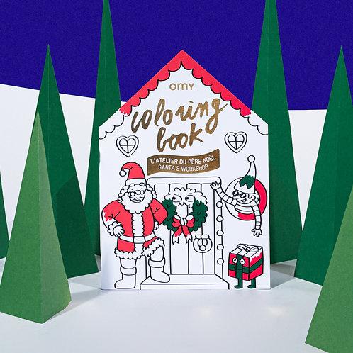 OMY - Cahier de coloriage L'atelier du Père Noël