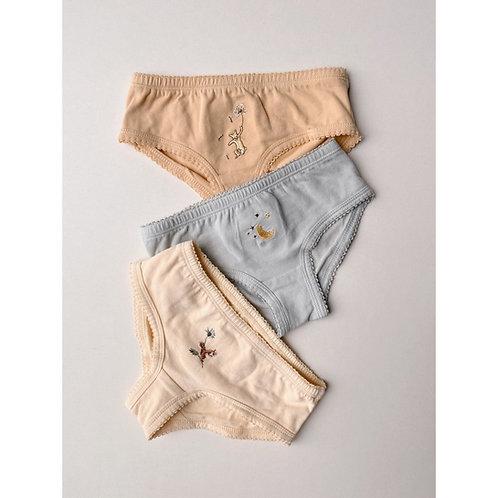 KONGES SLOJD - Paquet de 3 petites culottes