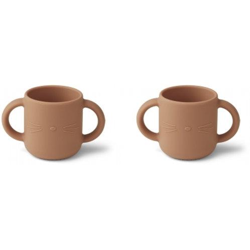 LIEWOOD - Gene - Duo de tasses en siliconetuscany rose