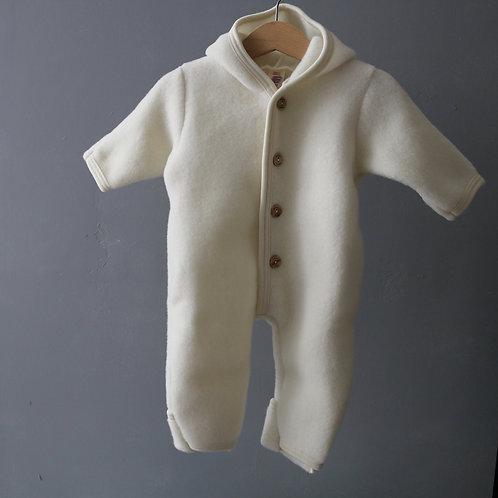 ENGEL - Combinaison 100% laine blanche Taille 62/68