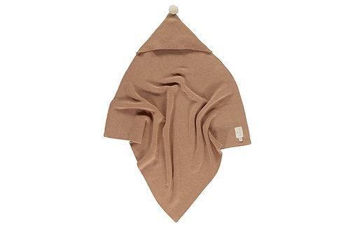 NOBODINOZ - Couverture cape en tricot - caramel