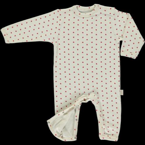 POUDRE ORGANIC - Pyjama motifs coeurs
