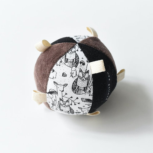 WEE GALLERY - Petite balle sensoriel contrasté en coton bio