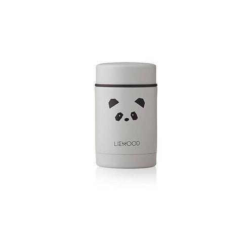 LIEWOOD - Pot en inox Nadja food jar Panda gris