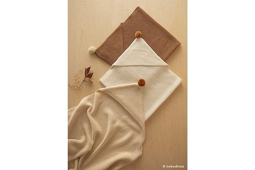 NOBODINOZ - Couverture cape en tricot - naturel