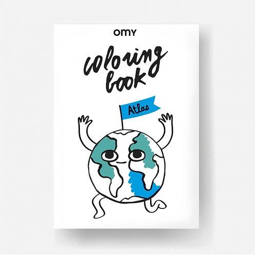 OMY - Carnet de coloriage - ATLAS