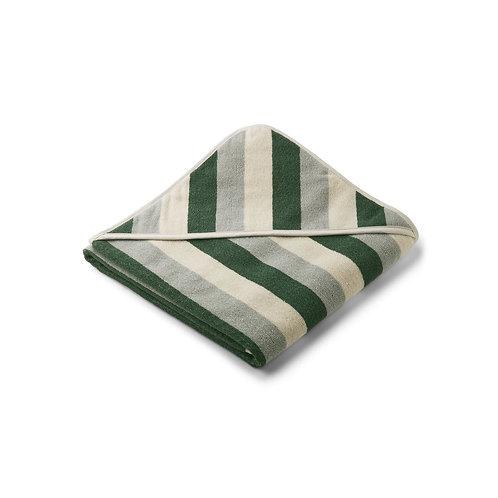 LIEWOOD - Louie hooded towel cape de bain green