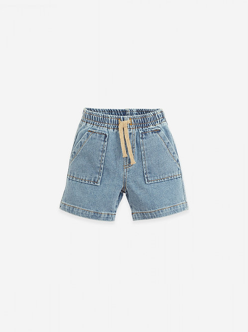 PLAY UP - Denim shorts with cord | Botany