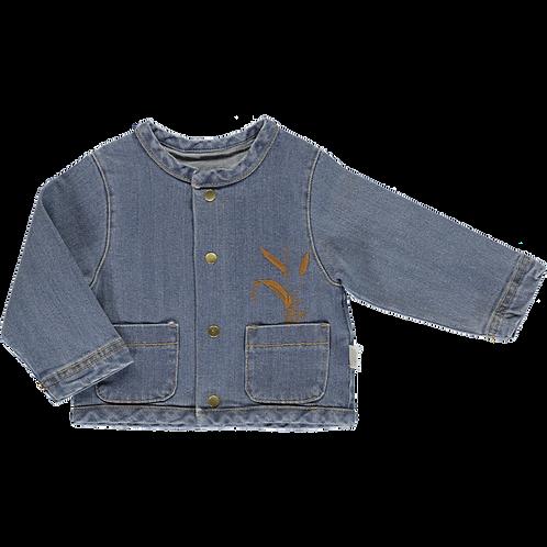 POUDRE ORGANIC - Veste en jeans, Manioc motif