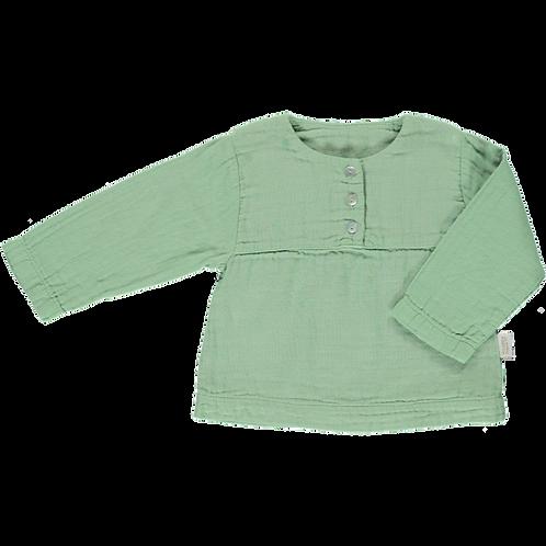 POUDRE ORGANIC - Reglisse, blouse green jade